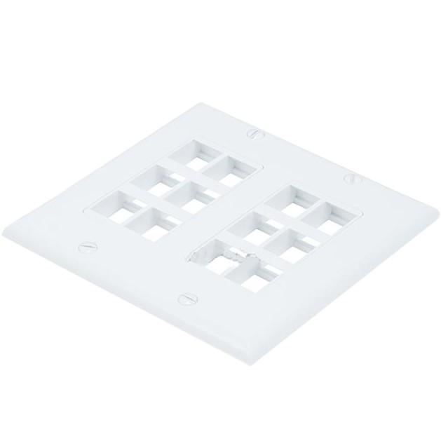KEYSTONE Plaque Murale Plastique modulaire 12 emplacements