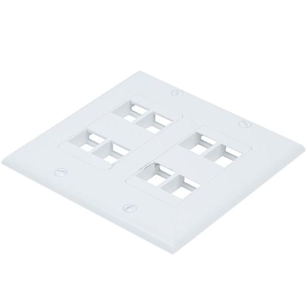 Keystone Wall Plate Modular Plastic 8 Slots