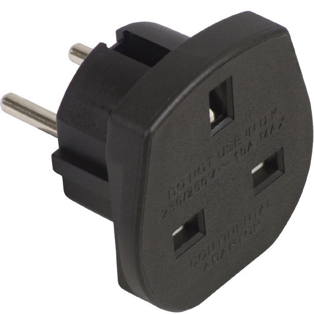UK Power Adapter BS 1363 to SCHUKO UK
