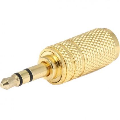 Adaptateur Jack 3.5mm mâle vers Jack 3.5mm femelle Or