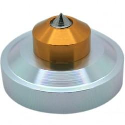 Pointe aluminium et acier silver 44x26mm M4 (Unité)