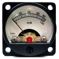 TEK Vumps Round Ammeter White 60 / 100mA Ø34mm