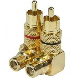 RCA Plated Gold Plated 90 ° Adapters (Pair)