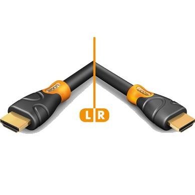Hicon Ergonomic Câble HDMI® High Speed with Ethernet 3.0m