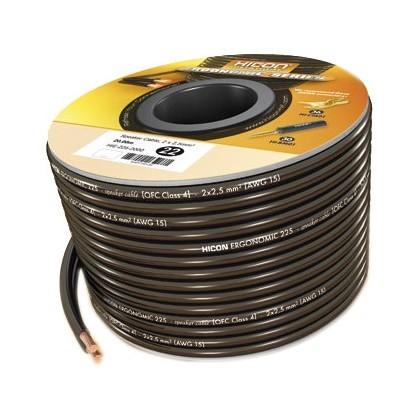 HICON Ergonomic Câble Haut-parleur 2 x 1.5mm²