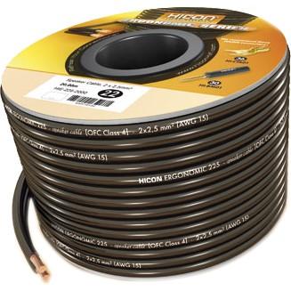HICON Ergonomic Câble Haut-parleur Cuivre OFC 2x 1.5mm²