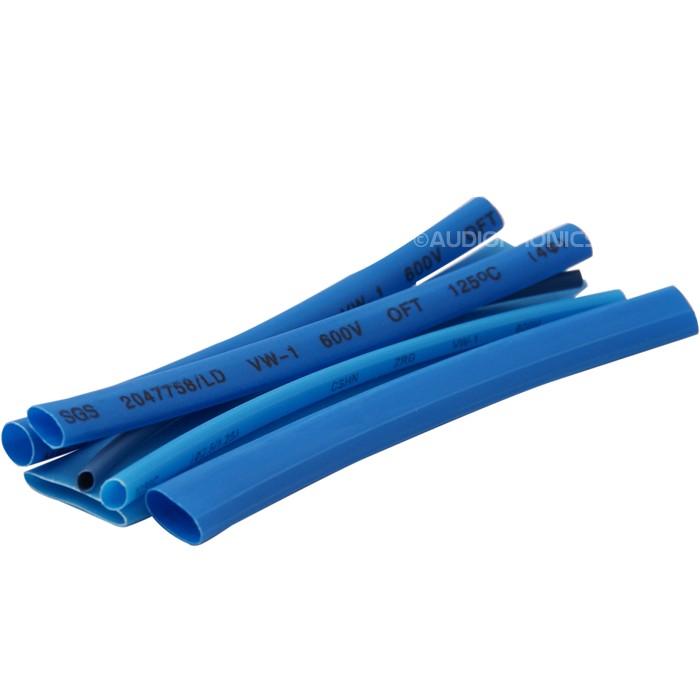 100 Gaines Thermo Rétractables 2:1 - 6 Diamètres Bleus 10cm
