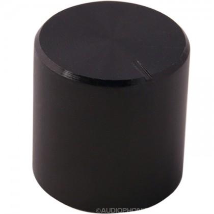 Bouton aluminium 17×17mm Noir pour Axe cranté Ø6mm