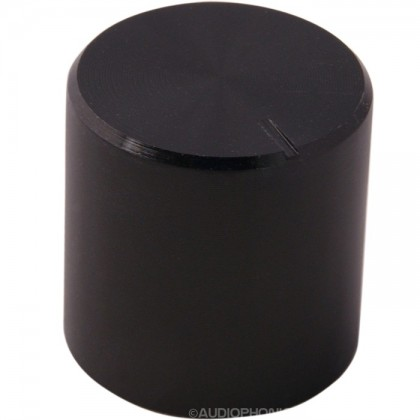 Bouton Aluminium Axe Cranté 17×17mm Ø6mm Noir
