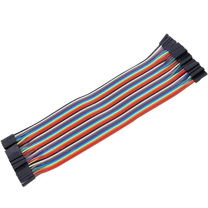 Cavaliers flexibles plaque d'essai connecteurs femelle / femelle 20cm (Set x40)