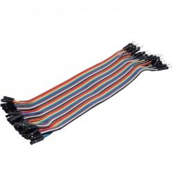 Cavaliers Flexibles Plaque d'Essai Connecteurs Mâle / Femelle 20cm (Set x40)