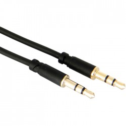 Modulation stereo cable Jack 3.5mm to 3.5mm Gold Plated 1.5m