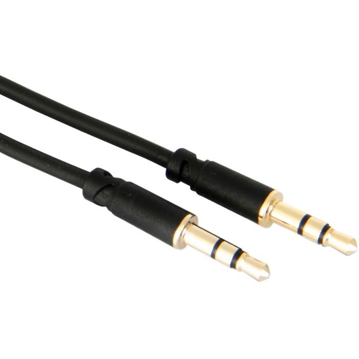 Câble d'interconnexion Jack 3.5mm vers Jack 3.5mm Stéréo Plaqué Or 1.5m