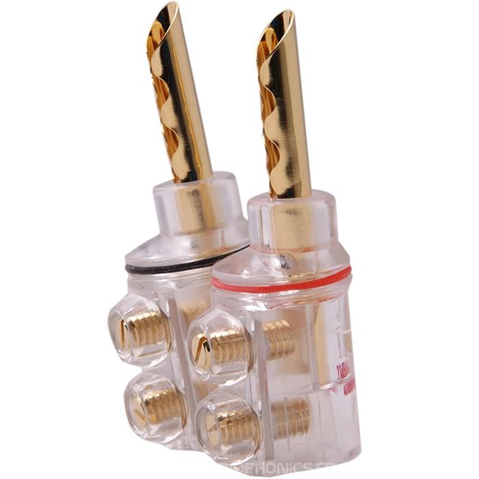 YARBO SC-04GP Banana Plug BFA Gold Plated 24k Ø 8.6mm (La paire)