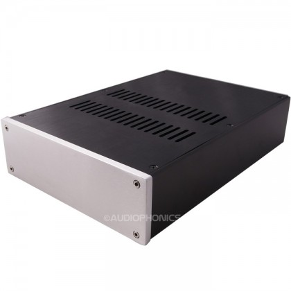 Boîtier DIY aluminium Noir panneau perforé 215x308x70mm