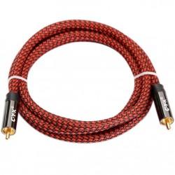 CYK Câble numérique coaxial SPDIF RCA-RCA OFC 24K 2.0m