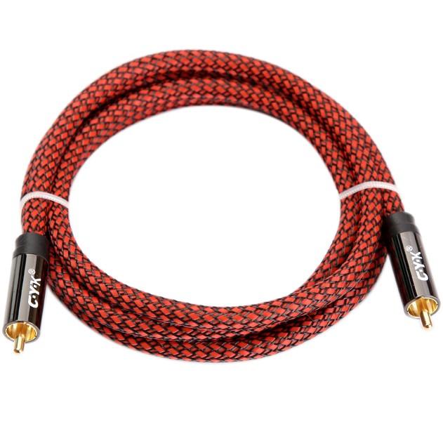 CYK Câble numérique coaxial SPDIF 75 Ohm RCA-RCA OFC 24K 2m