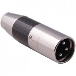 FURUTECH CF-601M (R) Connecteur XLR Mâle 3 Pôles Plaqué Rhodium Ø 10mm (Unité)