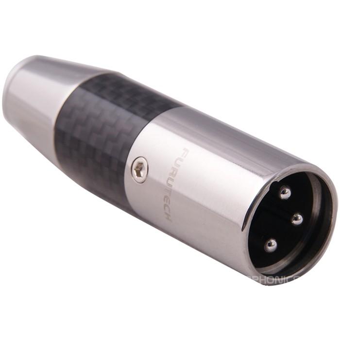 FURUTECH CF-601M (R) Rhodium Plated 3 Way Male XLR Connector Ø10mm (Unit)