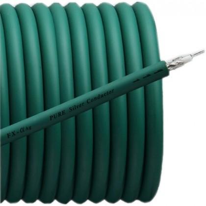 Furutech FX-Alpha-Ag Câble Coaxial Plaqué Argent 75ohm Ø8.0mm