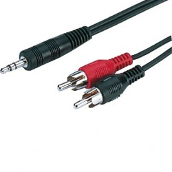 Audio adapter cable Jack 3.5mm to 2xRCA 1.2m