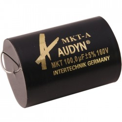Audyn Cap Condensateur MKT Axial 160V. 100.0 µF