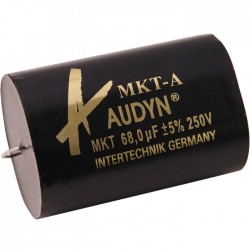 Audyn Cap Condensateur MKT Axial 250V. 10.0 µF