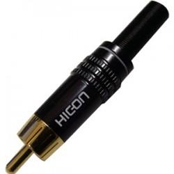Hicon CM06-NTL Connecteur RCA Plaqué Or Ø 8.4mm (Unité)