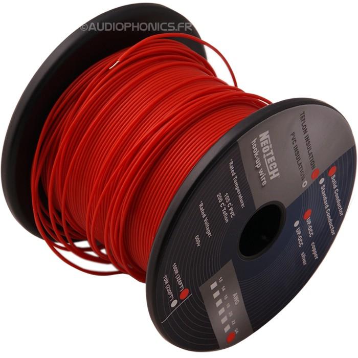 NEOTECH SOCT-24 Fil de câblage Cuivre UP-OCC PTFE 0.2mm²