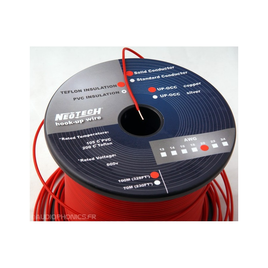 NEOTECH SOCT-20 wiring cable UP-OCC PTFE 20AWG - Audiophonics