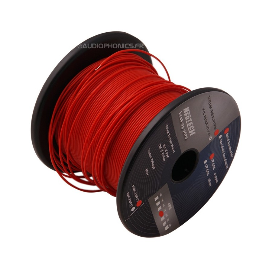 NEOTECH SOCT-18 wiring cable UP-OCC PTFE 0.8mm² - Audiophonics