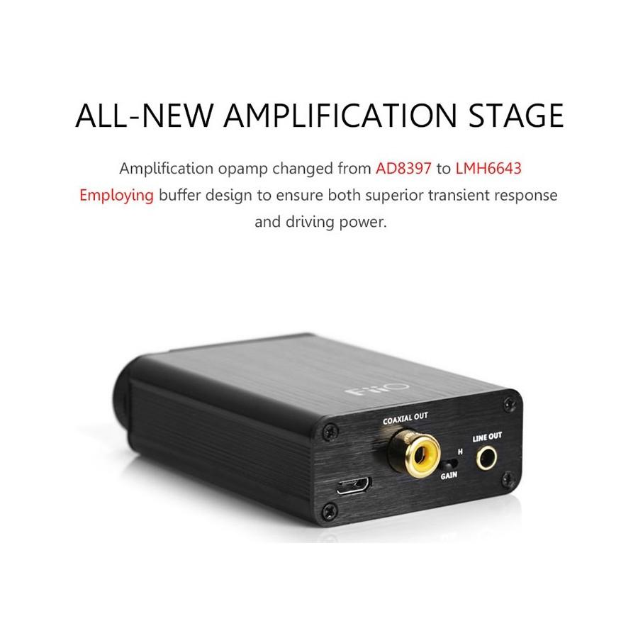 fiio e10k dac usb amplificateur casque mobile audiophonics. Black Bedroom Furniture Sets. Home Design Ideas