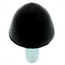 Pied Conique Caoutchouc Amortissant 30x36mm M8 Noir (Unité)