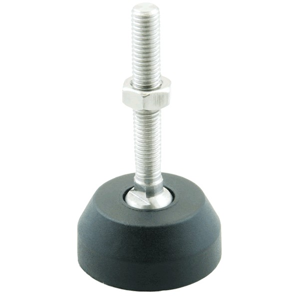 Pied articulé Caoutchouc amortissant 40x17.5mm M8 (Unité)