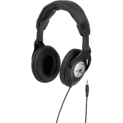MONACOR MD-4600 Black stereo headphones