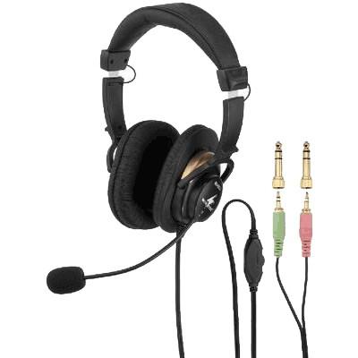 MONACOR BH-003 Casque audio stéréo avec micro électret