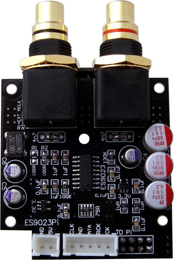 AUDIOPHONICS I-Sabre DAC ES9023 B Raspberry Pi B / I2S