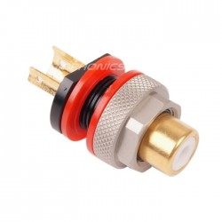 ELECAUDIO ER-108R RCA Tellurium Copper / Gold Plated 24K (unit)