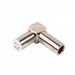 ELECAUDIO DIN-102 Tonearm Connector 5 spindles Rhodium
