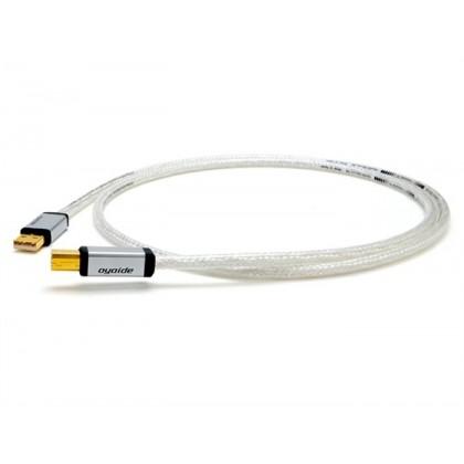 OYAIDE Continental 5S Câble USB-A Mâle / USB mini-B Mâle 2.0 Silver & Rhodium 1.0m
