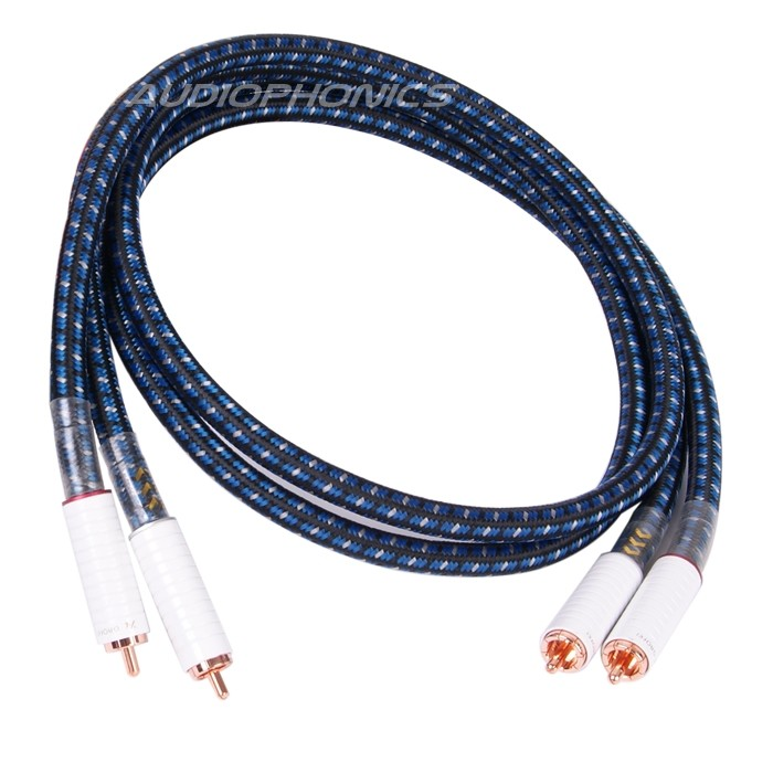 GAOFEI Câble de Modulation Cuivre RCA-RCA (La paire) 1m