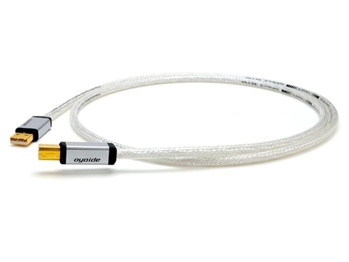 OYAIDE Continental 5S Câble USB-A Mâle / USB-B Mâle 2.0 Silver & Rhodium 1.2m (Unité)