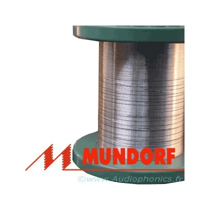 MUNDORF MCONNECT SGW105W Câble Argent/Or Isolé PTFE Blanc 0.5mm