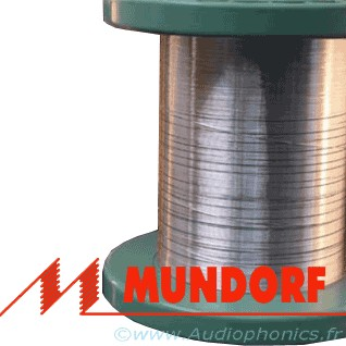 MUNDORF MCONNECT SGW105W Câble Argent/Or Isolé PTFE 0.5mm Blanc