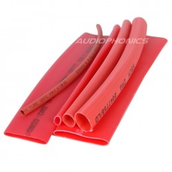Pack x100 Heat-shrink tubing 2:1 Ø1.5-13mm Red (1m)