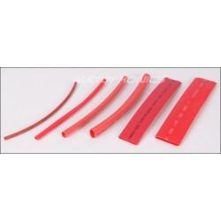 100 Gaines Thermo Rétractables 2:1 - 6 Diamètres Rouges 10cm