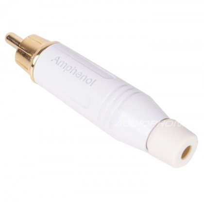 Amphenol Audio ACPR-WHT RCA Plug Ø 8.5mm