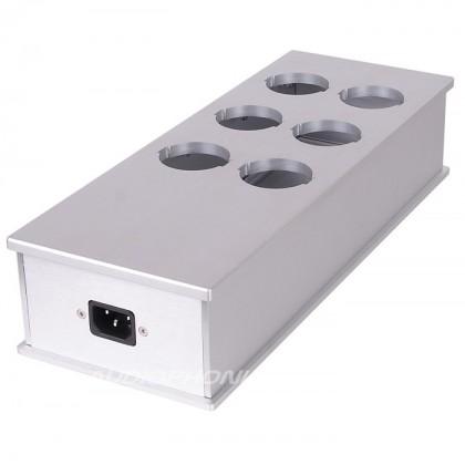 Audiophonics MPC6 - Boitier multiprises 6 ports Aluminium