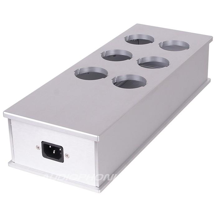 AUDIOPHONICS MPC6 Boitier Distributeur Secteur 6 Ports Aluminium Argent
