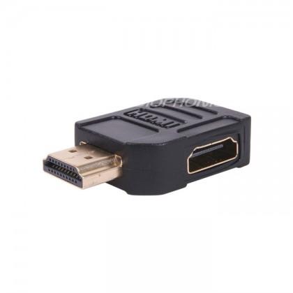 Adaptateur HDMI coudé 90° plat - Male Femelle